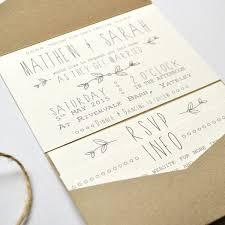 Rustic Brown Kraft Wedding Day Invitation
