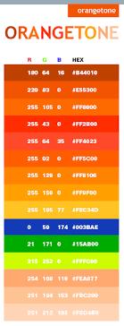 Orange Tone Color Scheme Web Colors