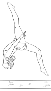 Click To See Printable Version Of Gymnast On A Beam Coloring Page