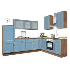 winkelküche taubenblau eiche havanna nachbildung 275 x 225 cm