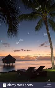 le meridien tahiti hotel at sunset pape ete tahiti stock