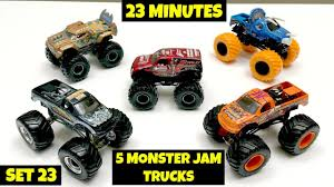 MONSTER JAM 5 Monster Truck 23 Minute Super Surprise Egg - Set 23 ... 100 Bigfoot Presents Meteor And The Mighty Monster Trucks Toys Truck Cars For Children Cartoon Vehicles Car With Friends Ambulance And Fire Walking Mashines Challenge 3d Teaching Collection Vol 1 Learn Colors Colours Adventures Tow Excavator The Episode 16 Tv Show Monster School Bus Youtube