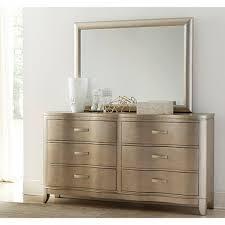 Dresser Mirror Mounting Hardware by Serendipity Bedroom Bed Dresser U0026 Mirror Queen Champagne