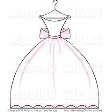 Wedding Dress clipart drawn 4