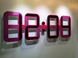 Image Of Cool Digital Wall Clock Modern