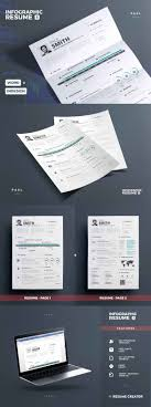 Resume Template Envato Inspirational Professional And Creative Infographic Cv Design