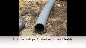 Perforated Drain Tile Sizes by Drainage Work On Wet Land Youtube