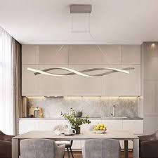 led pendelleuchte dimmbar mit fernbedienung hängele modern kreativ spiral design kronleuchter esszimmerle für küchen insel bar cafe esszimmer