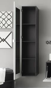 badezimmer hängeschrank hochglanz weiß grau 35x157 cm mit spiegel innen