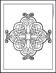 Celtic Coloring Pages At ColorWithFuzzy Intricate Cross