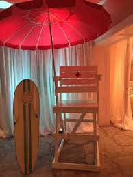 Beach Lifeguard Chair Plans by Sign In Board And Lifeguard Chair At Beach Themed Bat Mitzvah
