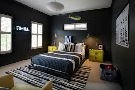 chambre ado grise chambre enfant deco chambre ado garcon idee gris jaune noir tapis