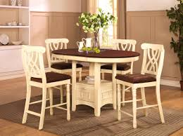 furniture fascinating addison white and cherry wood pub table