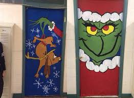 Unique Christmas Office Door Decorating Idea by The Grinch Classroom Door Do This On My Principal U0027s Office Door