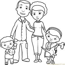 Doc McStuffins Family Coloring Page