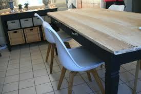relooker une table de cuisine table le retour pétale de gris galet