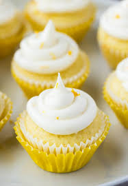 Close Up Of A Mini Lemon Cupcake With More In The Background