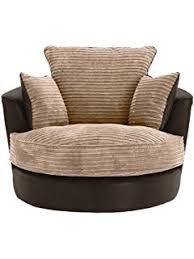 Swivel Cuddle Chairs Uk by Large Swivel Round Cuddle Chair Fabric Grey Amazon Co Uk