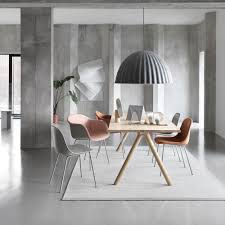 fiber chair stuhl gepolstert mit rohrgestell