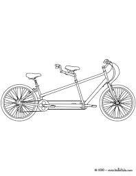 Tandem Bike Bicycle Coloring Page