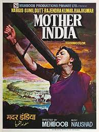 A Film Poster Showing Lady With Wooden Plough On Her Right Shoulder