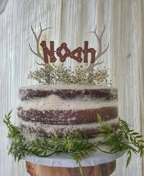 Woodland Baby Shower Antler Cake Topper Woods Made By