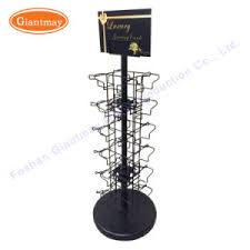 Metal Table Top Small Wire Shelving Spinning Display Exhibition Greeting Card Stand