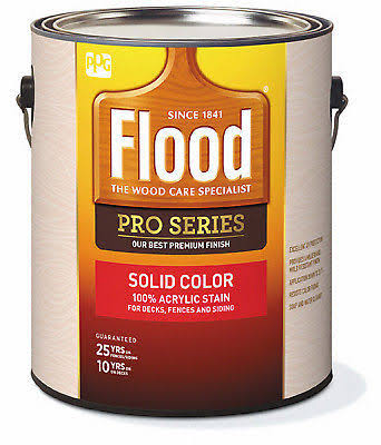 Flood Pro Series Acrylic Opaque Deck Fence and Siding Exterior Stain - 1 Gallon