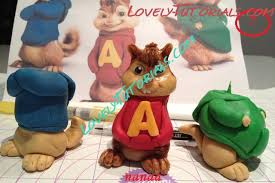 Alvin And The Chipmunks Cake Toppers by Gumpaste Fondant Polymer Clay Alvin And The Chipmunks