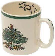 Spode Christmas Tree Mug Set Of 4
