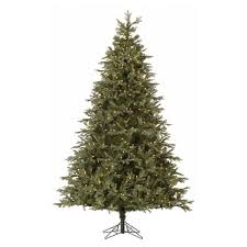 9ft Pre Lit Artificial Christmas Tree Full Iced Sonoma Spruce