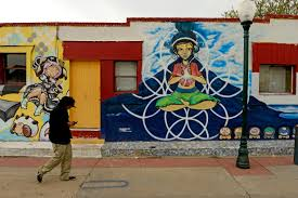 Denver Airport Murals Painted Over by Manitou Springs Steamboat Springs And Westwood Become Creative
