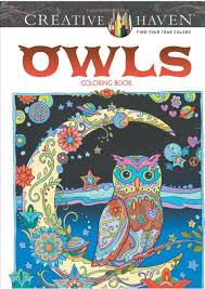 Coloring Book Marjorie Saran Owls Creative Haven