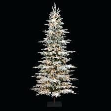 Flocked Pencil Christmas Tree Slim Logo 9 Foot Laser Glitter Pine Sears