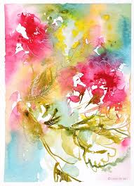 SOLDWatercolor Abstract Flower Painting By Lesia Binkin