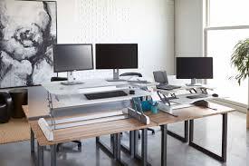 Varidesk Standing Desk Floor Mat by The Exec Series A Huge Set Up In Sit Stand Desks Varidesk