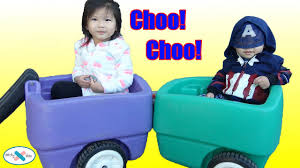 Step2 Roller Coasters Wagons U0026 by Step2 Choo Choo Wagon For Kids Riding The Train And Going For A