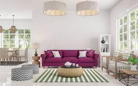 modernes weißes wohnzimmer und esszimmer bild gibt kleine fenster um natur und wald zu betrachten