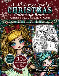 A Whimsy Girls Christmas Coloring Book Festive Fairies More