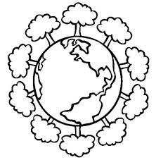 Earth Day Having A Healthy Forest On Coloring Page