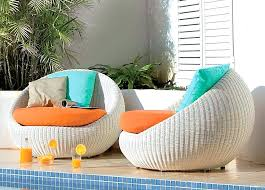 Lovable Modern White Outdoor Chairs Garden Furniture Elegant