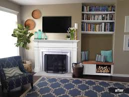 Awkward Living Room Layout With Fireplace by Remodelaholic Real Life Rooms An Awkward Alcove Becomes A