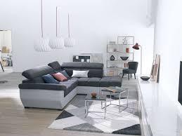 canapé d angle fixe droit 4 places speedway coloris anthracite