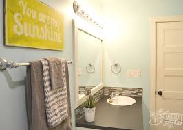 Yellow Grey Bathroom Ideas by Kids U0027 Bathroom Reveal And Some Great Tips For Post Reno Clean Up