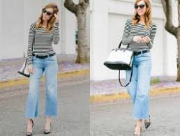 Cropped Flare Jeans Fashion Styling For Trendy Girls