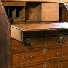 Drop Front Writing Desk by Desk Antique French Drop Front Solid Wood Secretary And Chest 3