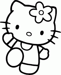 Hello Kitty Coloring Page 01