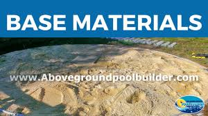 Best Above Ground Pool Floor Padding by Above Ground Pool Base Materials Youtube