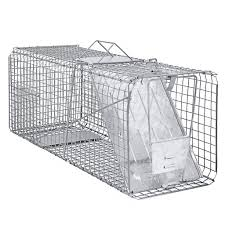 live cat trap raccoon skunk poss humane animal trap 31 x12 x12 cage rabbit cat