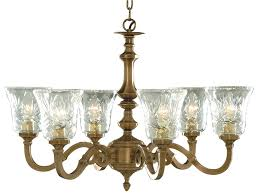 Malaga Solid Cast Antique Brass 6 Light Chandelier 1076 6NG
